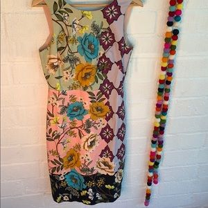 Anthropologie Maeve Work Pencil Floral Dress sz 8